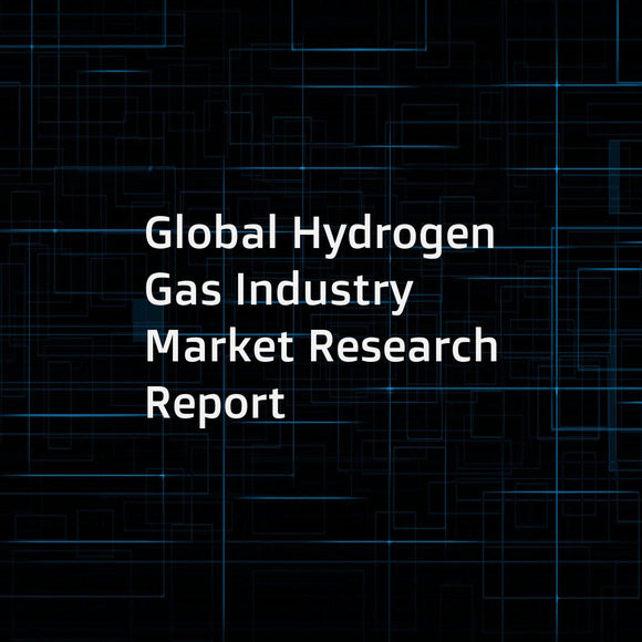 Global Hydrogen Gas Industry Market Research Report