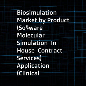 Biosimulation Market by Product (Software  Molecular Simulation  In House  Contract Services)  Application (Clinical Trials  PKPD  ADME)  Delivery (Subscription  Ownership)  End User (Biotech  Pharma Companies  CROs  Regulatory) - Global Forecast to 2022