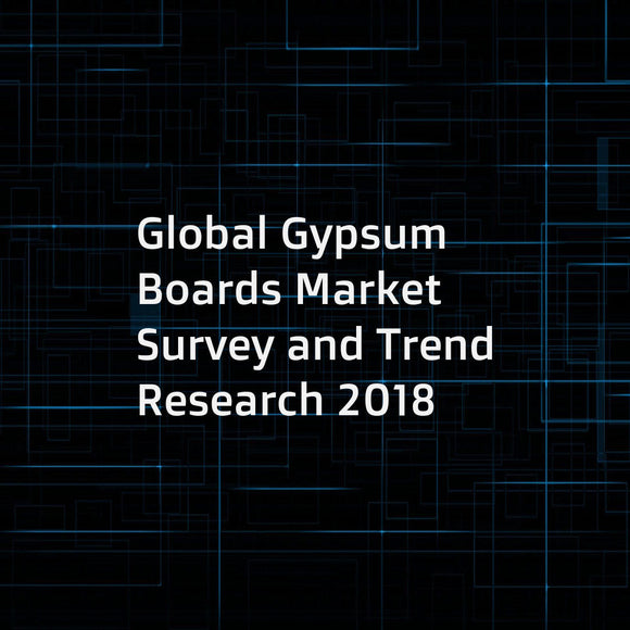 Global Gypsum Boards Market Survey and Trend Research 2018