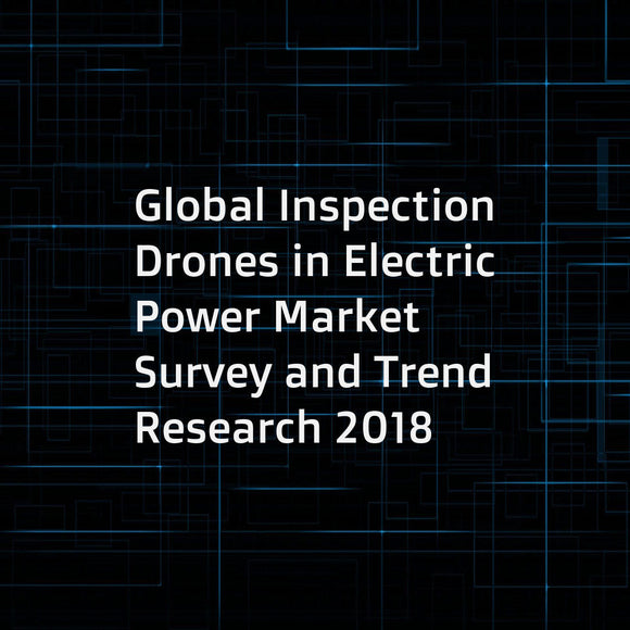 Global Inspection Drones in Electric Power Market Survey and Trend Research 2018