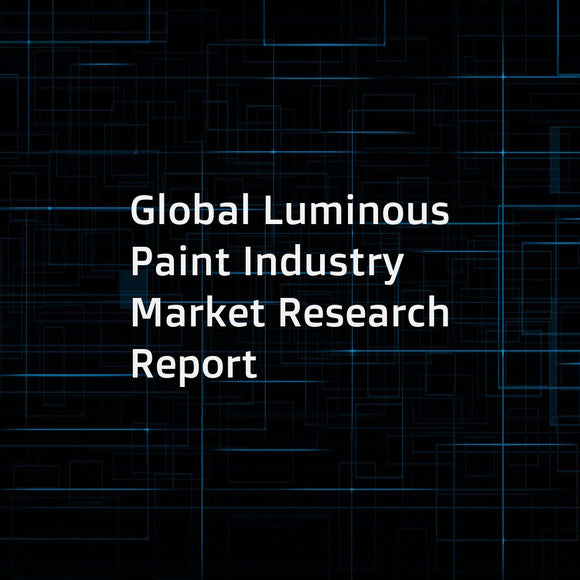 Global Luminous Paint Industry Market Research Report