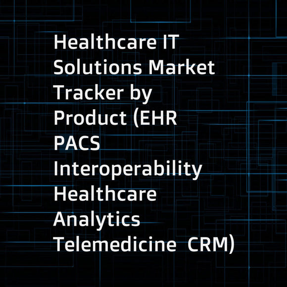 Healthcare IT Solutions Market Tracker by Product (EHR  PACS  Interoperability  Healthcare Analytics  Telemedicine  CRM)  Market Size  Adoption Trends  Competitive landscape (Market Share Analysis  Product Portfolio Assessment) - Forecast to 2020