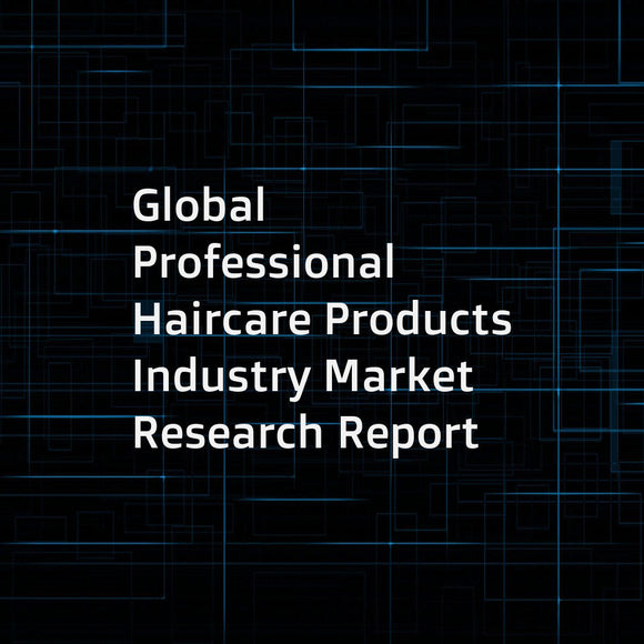 Global Professional Haircare Products Industry Market Research Report