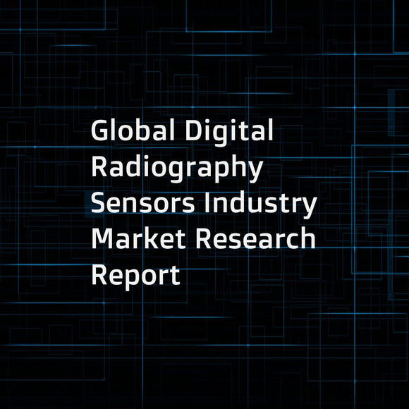 Global Digital Radiography Sensors Industry Market Research Report