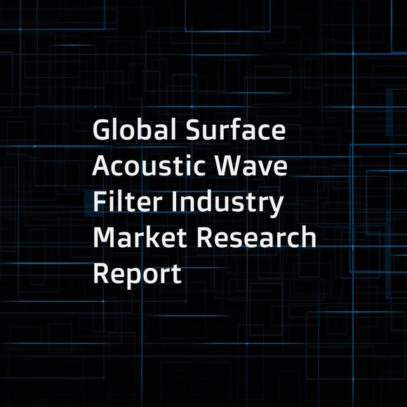Global Surface Acoustic Wave Filter Industry Market Research Report