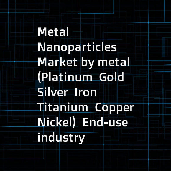 Metal Nanoparticles Market by metal (Platinum  Gold  Silver  Iron  Titanium  Copper  Nickel)  End-use industry (Pharmaceutical & healthcare  Electrical & electronics  Catalyst  Personal care & cosmetics)  and Region - Global Forecast to 2022