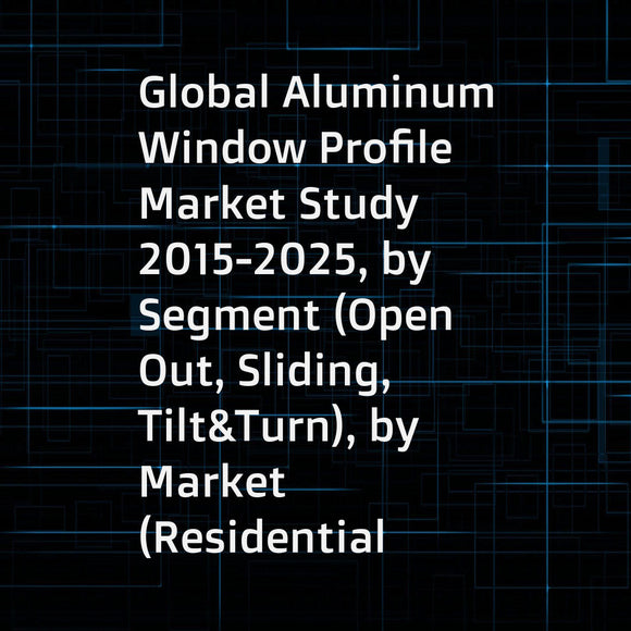 Global Aluminum Window Profile Market Study 2015-2025, by Segment (Open Out, Sliding, Tilt&Turn), by Market (Residential using, Commercial building usingSliding), by Company (Sapa Group, Schueco, Xingfa, ... ...)
