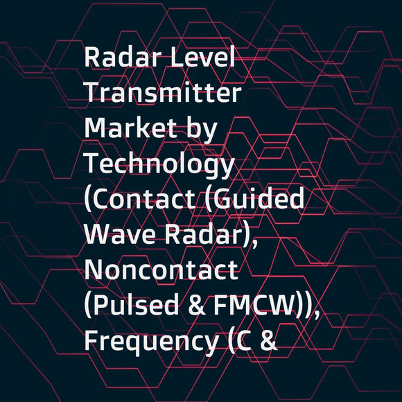 Radar Level Transmitter Market by Technology (Contact (Guided Wave Radar), Noncontact (Pulsed & FMCW)), Frequency (C & X, K, and W Band), Application (Liquids, Solids), Industry (Oil & Gas, Chemicals, Food & Beverages), and Region - Global Forecast to 202