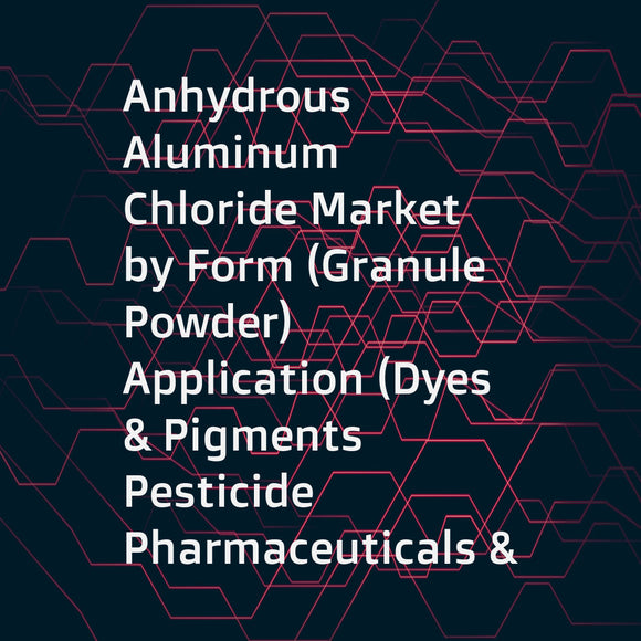 Anhydrous Aluminum Chloride Market by Form (Granule  Powder)  Application (Dyes & Pigments  Pesticide  Pharmaceuticals & Cosmetics  Hydrocarbon Resins  Fumed Alumina  Electrolytic Production of Aluminum  Titanium Dioxide)  Region-Global Forecast to 2022