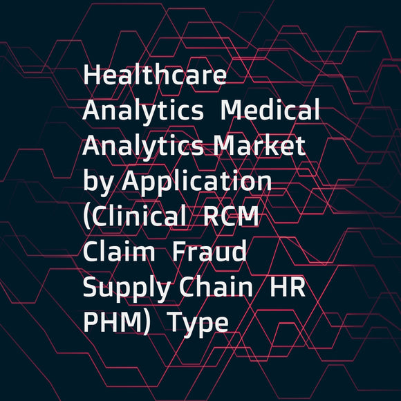 Healthcare Analytics  Medical Analytics Market by Application (Clinical  RCM  Claim  Fraud  Supply Chain  HR  PHM)  Type (Prescriptive)  Component (Service  Software)  Delivery (On-premise  Cloud)  End User (Hospital  Payer  ACO  TPA) - Forecasts to 2021
