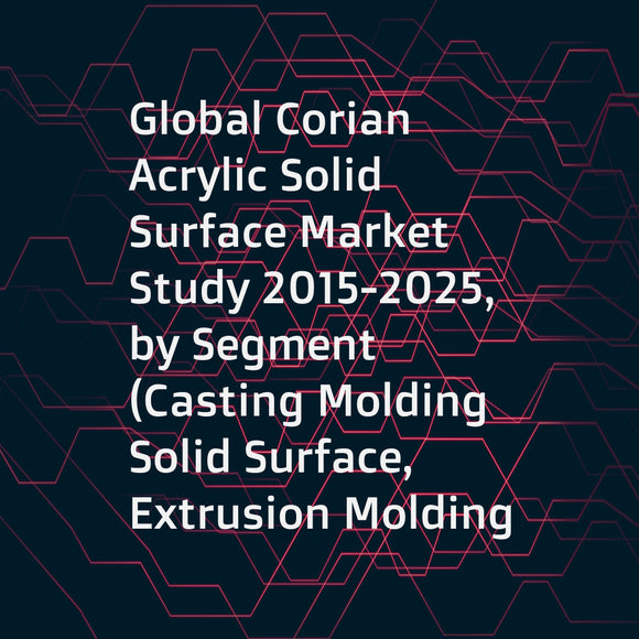 Global Corian Acrylic Solid Surface Market Study 2015-2025, by Segment (Casting Molding Solid Surface, Extrusion Molding Solid Surface), by Market (Commercial, ResidentialExtrusion Molding Solid Surface), by Company (DuPont, Lion Chemtech, LG Hausys, ...