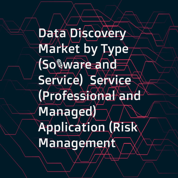 Data Discovery Market by Type (Software and Service)  Service (Professional and Managed)  Application (Risk Management  Sales & Marketing Optimization  and Cost Optimization)  Deployment  Organization Size  Vertical  and Region - Global Forecast to 2021