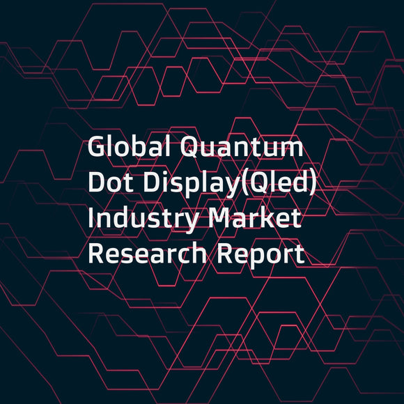 Global Quantum Dot Display(Qled) Industry Market Research Report