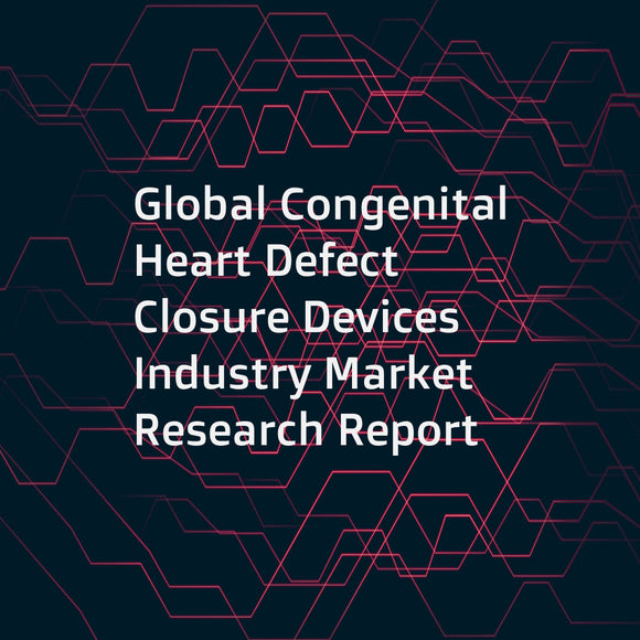 Global Congenital Heart Defect Closure Devices Industry Market Research Report