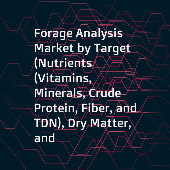 Forage Analysis Market by Target (Nutrients (Vitamins, Minerals, Crude Protein, Fiber, and TDN), Dry Matter, and Mycotoxin)), Livestock (Cattle, Equine, and Sheep), Forage (Ration, Hay, and Silage), Method (Wet Chemistry and NIRs), and Region - Global For
