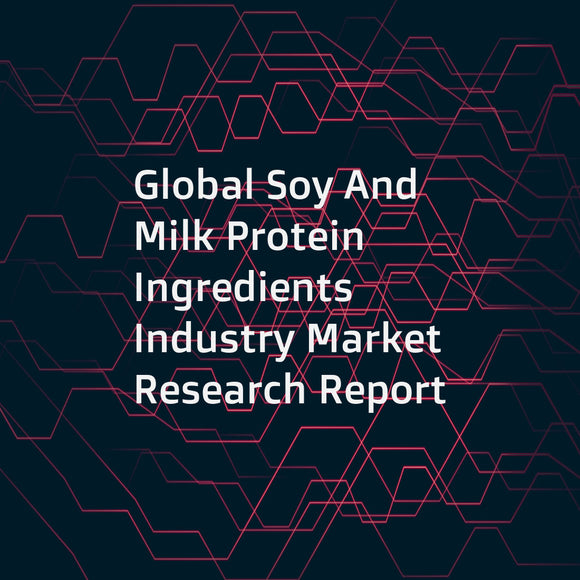 Global Soy And Milk Protein Ingredients Industry Market Research Report