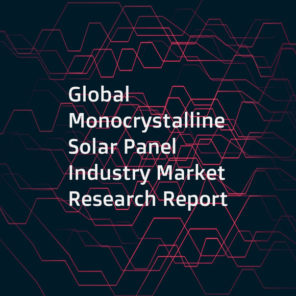 Global Monocrystalline Solar Panel Industry Market Research Report
