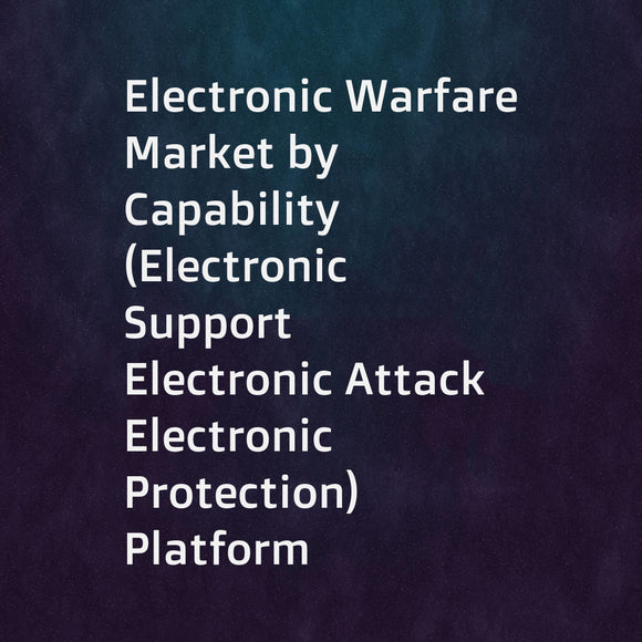 Electronic Warfare Market by Capability (Electronic Support  Electronic Attack  Electronic Protection)  Platform (Airborne  Naval  Ground  Space)  Product (EW Equipment  EW Operational Support)  and Region - Global Forecast to 2022