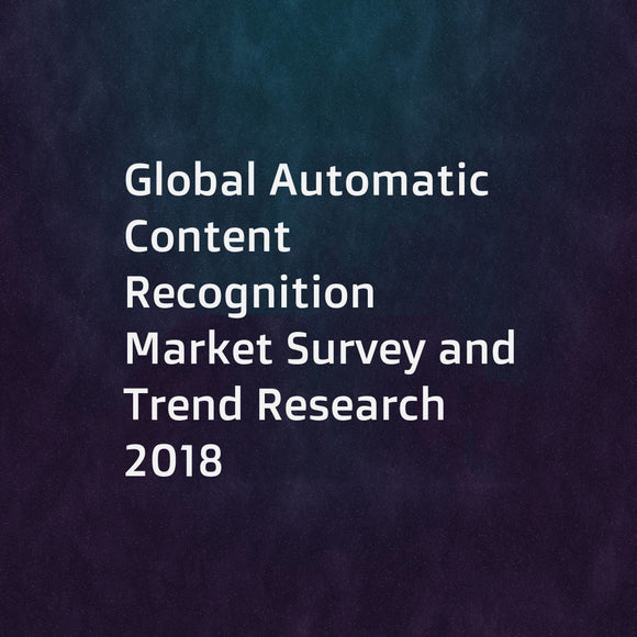 Global Automatic Content Recognition Market Survey and Trend Research 2018