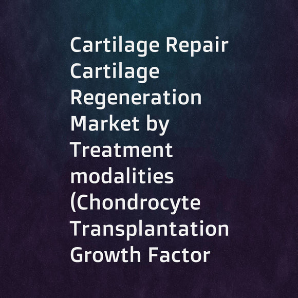 Cartilage Repair  Cartilage Regeneration Market by Treatment modalities (Chondrocyte Transplantation  Growth Factor Technology  Tissue Scaffolds  Cell-free composites)  Application (Hyaline Cartilage  Fibrocartilage)  Region - Forecast to 2021