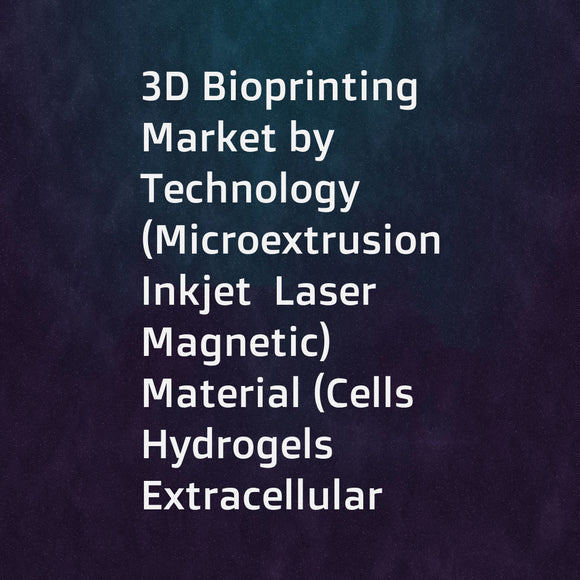 3D Bioprinting Market by Technology (Microextrusion  Inkjet  Laser  Magnetic)  Material (Cells  Hydrogels  Extracellular Matrices  Biomaterials)  Application (Clinical (Bone  Cartilage  Skin) & Research (Regenerative Medicine)) - Global Forecasts to 2021