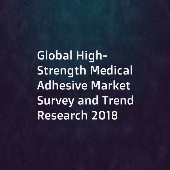 Global High-Strength Medical Adhesive Market Survey and Trend Research 2018