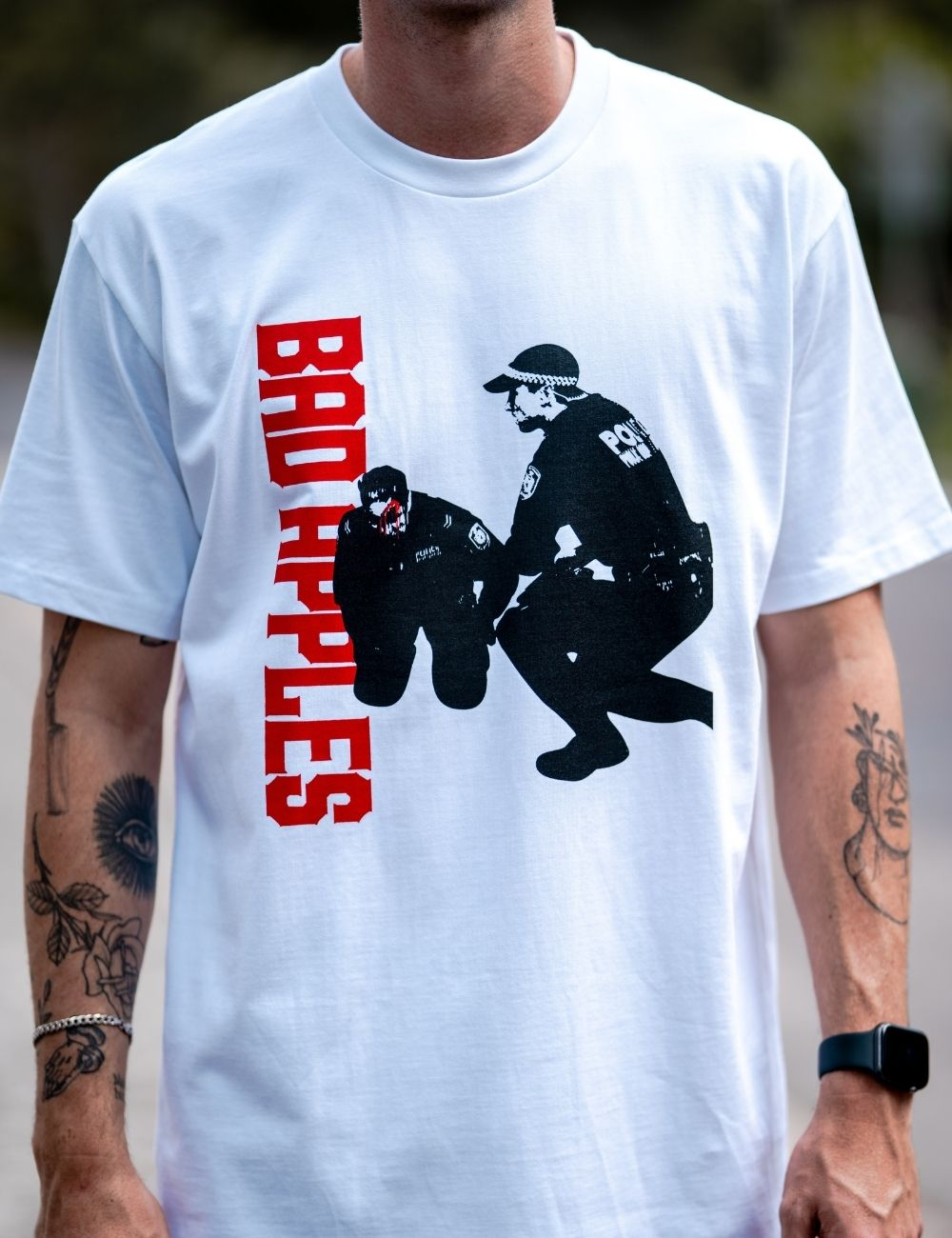 Bad Apples Officer Down T-shirt