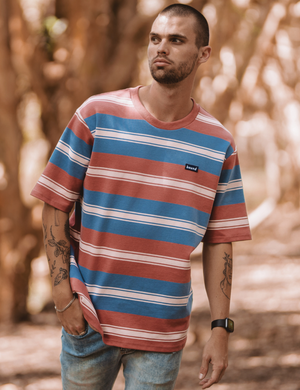 Bound Candy Stripe Knit Tee