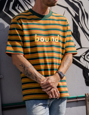 Bound Samba Stripe Knit Tee