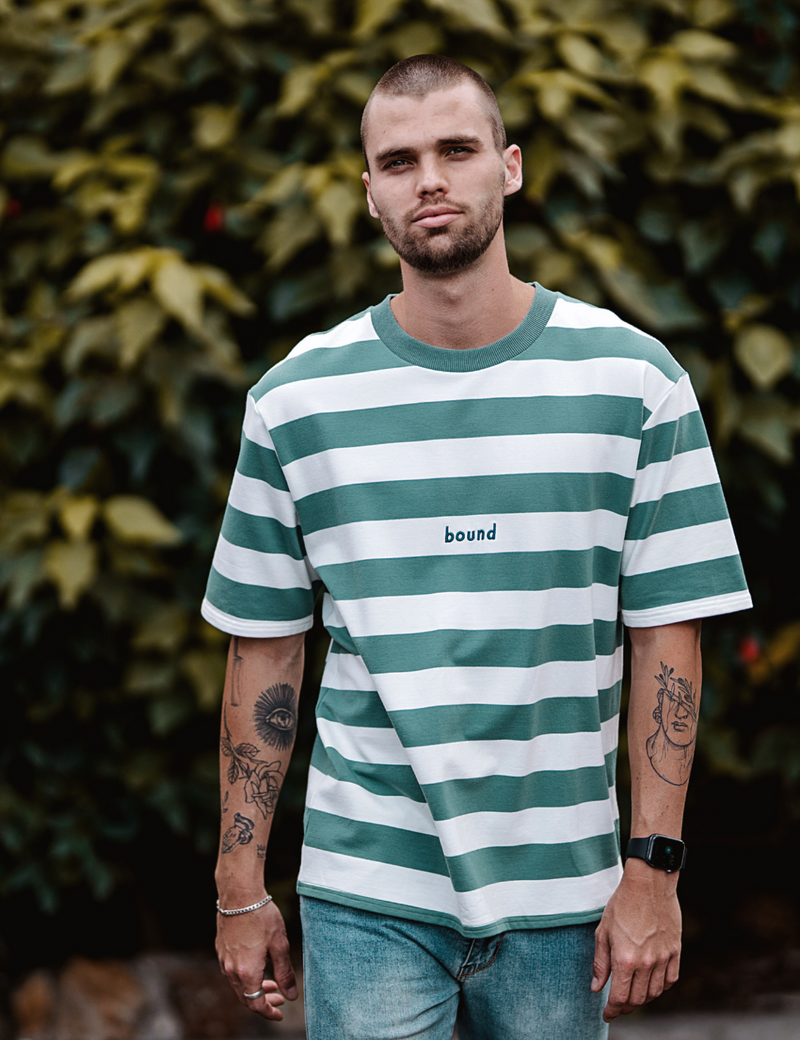 Bound Mint Stripe Tee - HIPLAND
