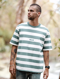 Bound Mint Stripe Tee