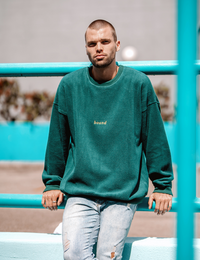 Bound Bottle Reverse Fleece Oversize Sweatshirt - HIPLAND