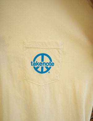 takenote® Unity Pocket Tee in Ivory - HIPLAND