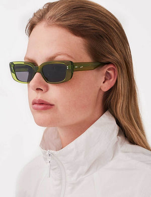 MessyWeekend GRACE Sunglasses in Transparent Green