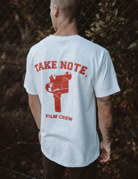 takenote® Film Crew T-shirt in Ash - HIPLAND