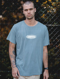 takenote® Faded Court Tee in Washed Denim - HIPLAND