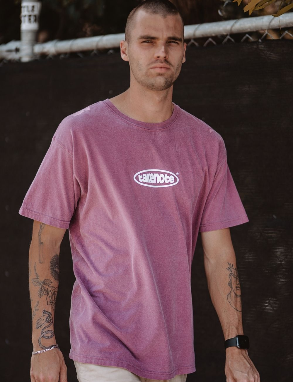 takenote® Faded Court Tee in Mauve