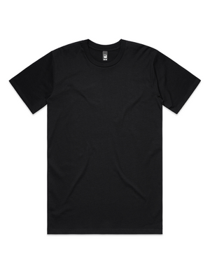 Hipland Basics Heavy Cotton Tee in Jet Black