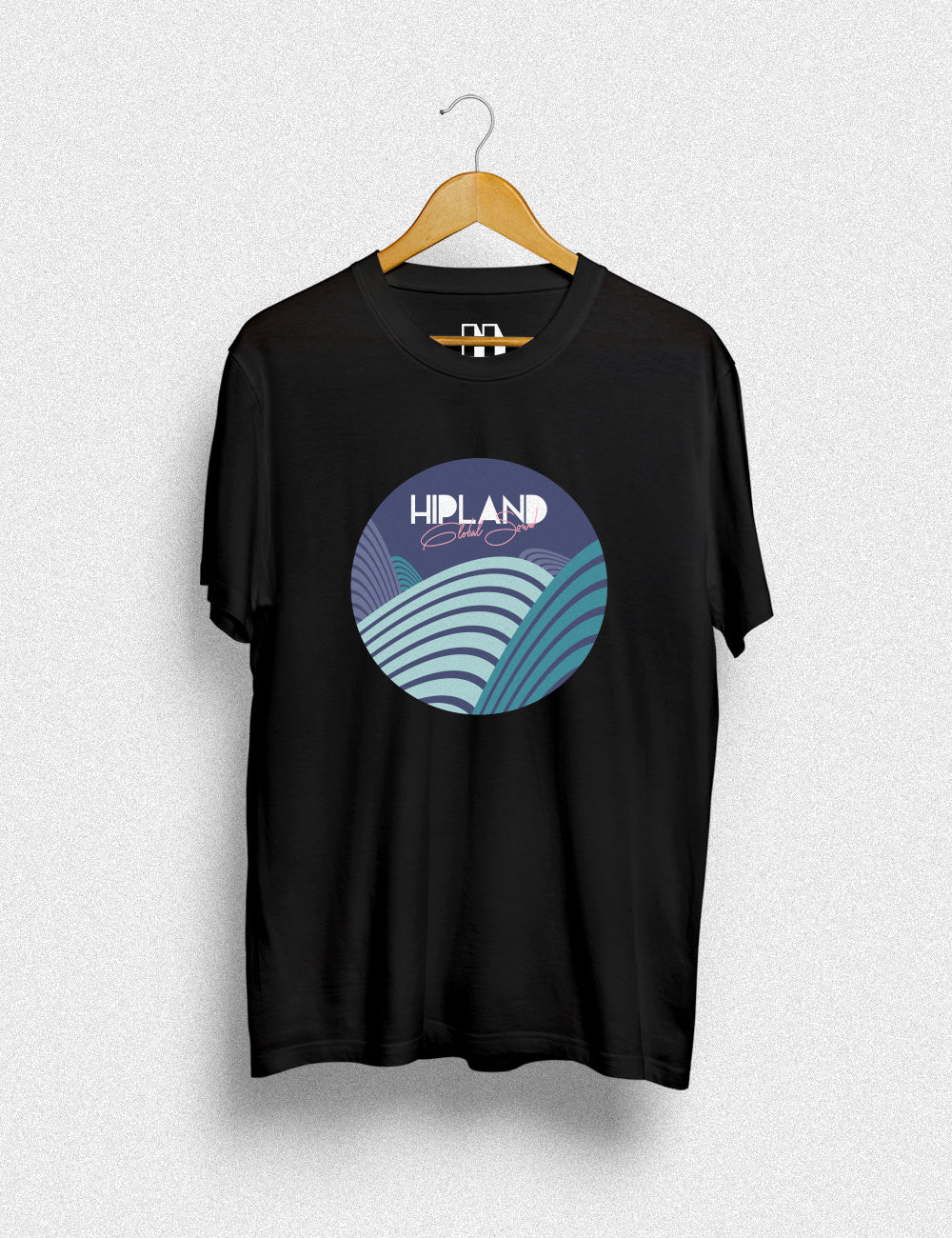 Hipland Abstract Circle unisex t-shirt in black