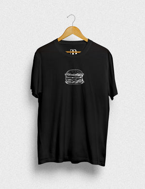 Hipland Burger Tee unisex t-shirt in black
