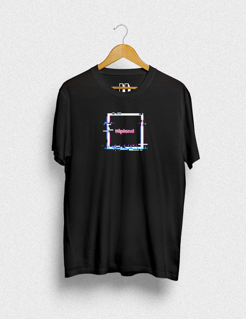 Hipland Box Glitch unisex t-shirt in black