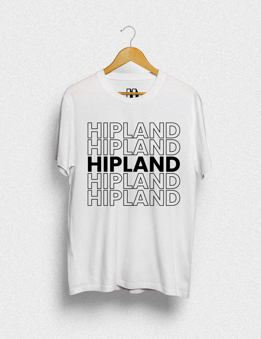 Hipland Solid Stroke unisex t-shirt in white