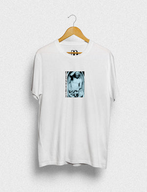 Hipland Horizontal Fall unisex t-shirt in white