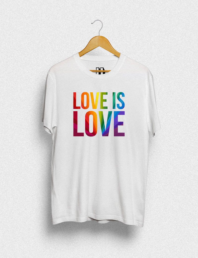 Hipland Love is Love Rainbow unisex t-shirt in white