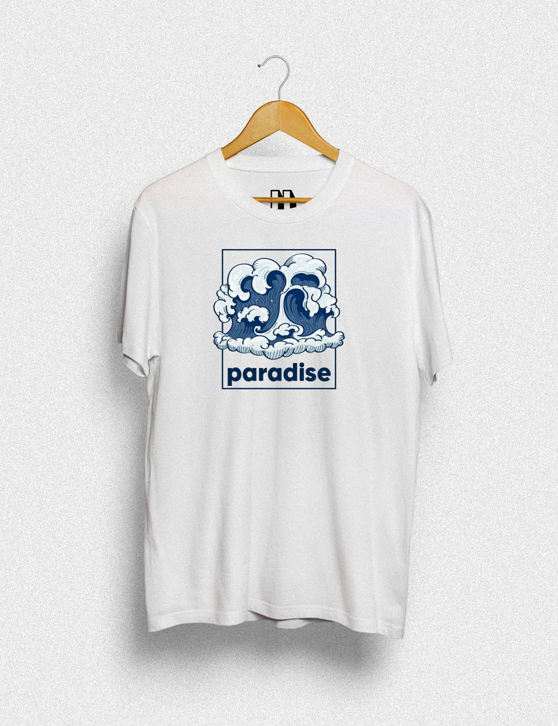 Hipland Paradise Wave unisex t-shirt in white