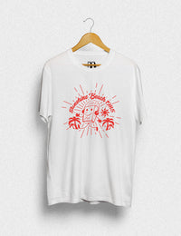 Hipland Sunshine Beach Tee unisex t-shirt in white, daisy