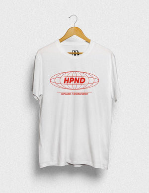 Hipland HPND Red unisex t-shirt in white - HIPLAND
