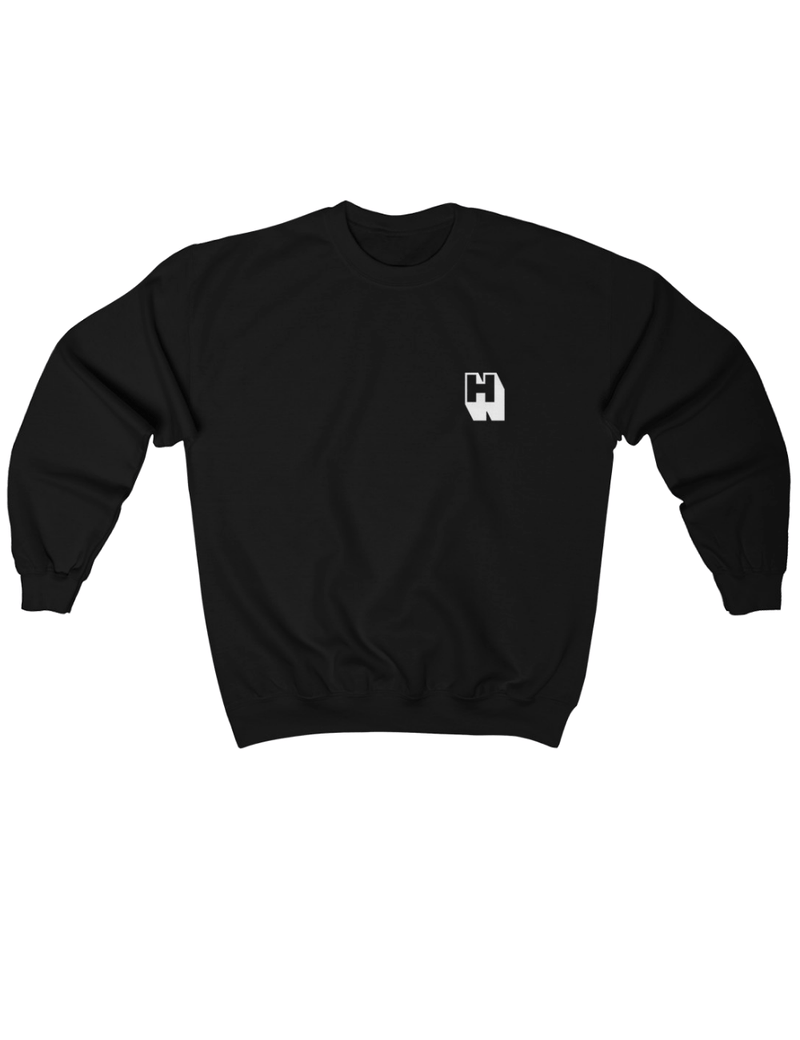 Hipland Monogram Logo Sweater in Black - HIPLAND
