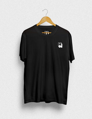 Hipland Monogram unisex t-shirt in black - HIPLAND