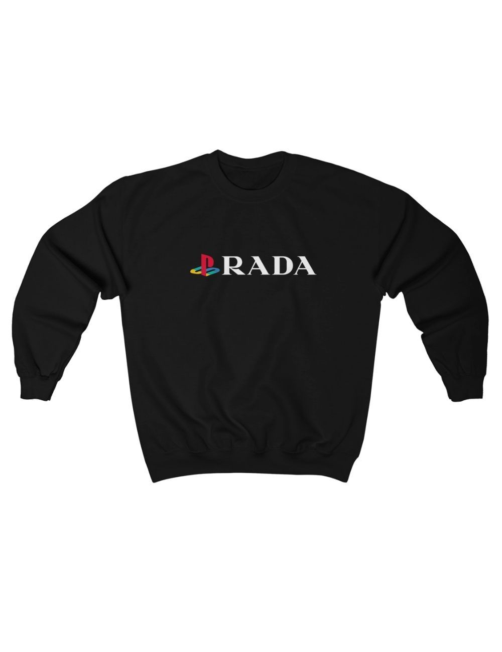 Clothing - Hipland PlayStation / Prada Logo Unisex Sweatshirt In Black